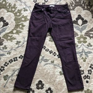 Loft curvy skinny jeans purple SZ 8
